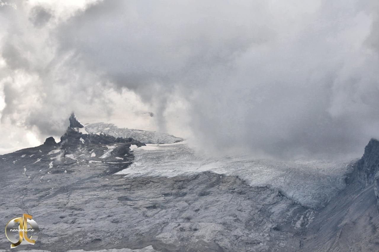 Tzanfleuron happé par le brouillard