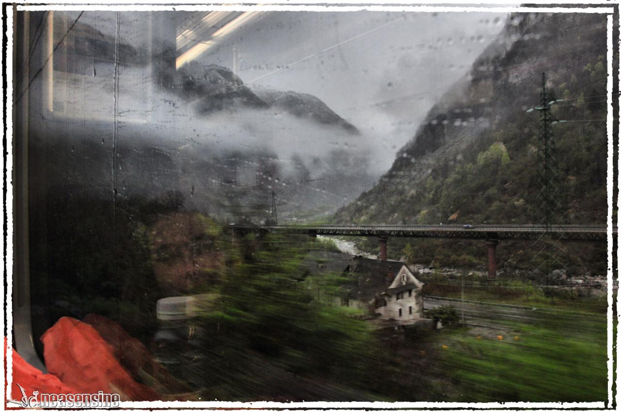 Dans le train via Domodossola