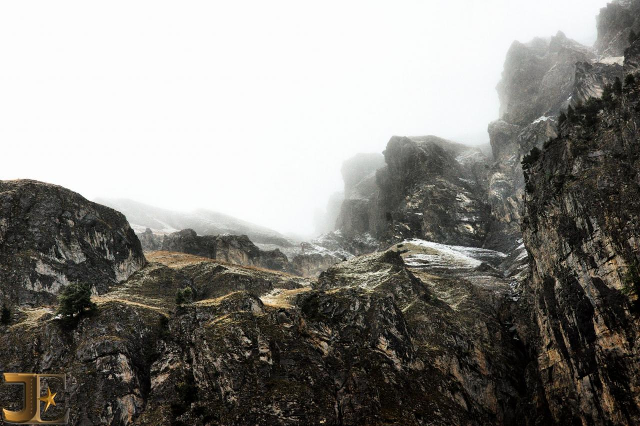 Brumes automnales en montagne