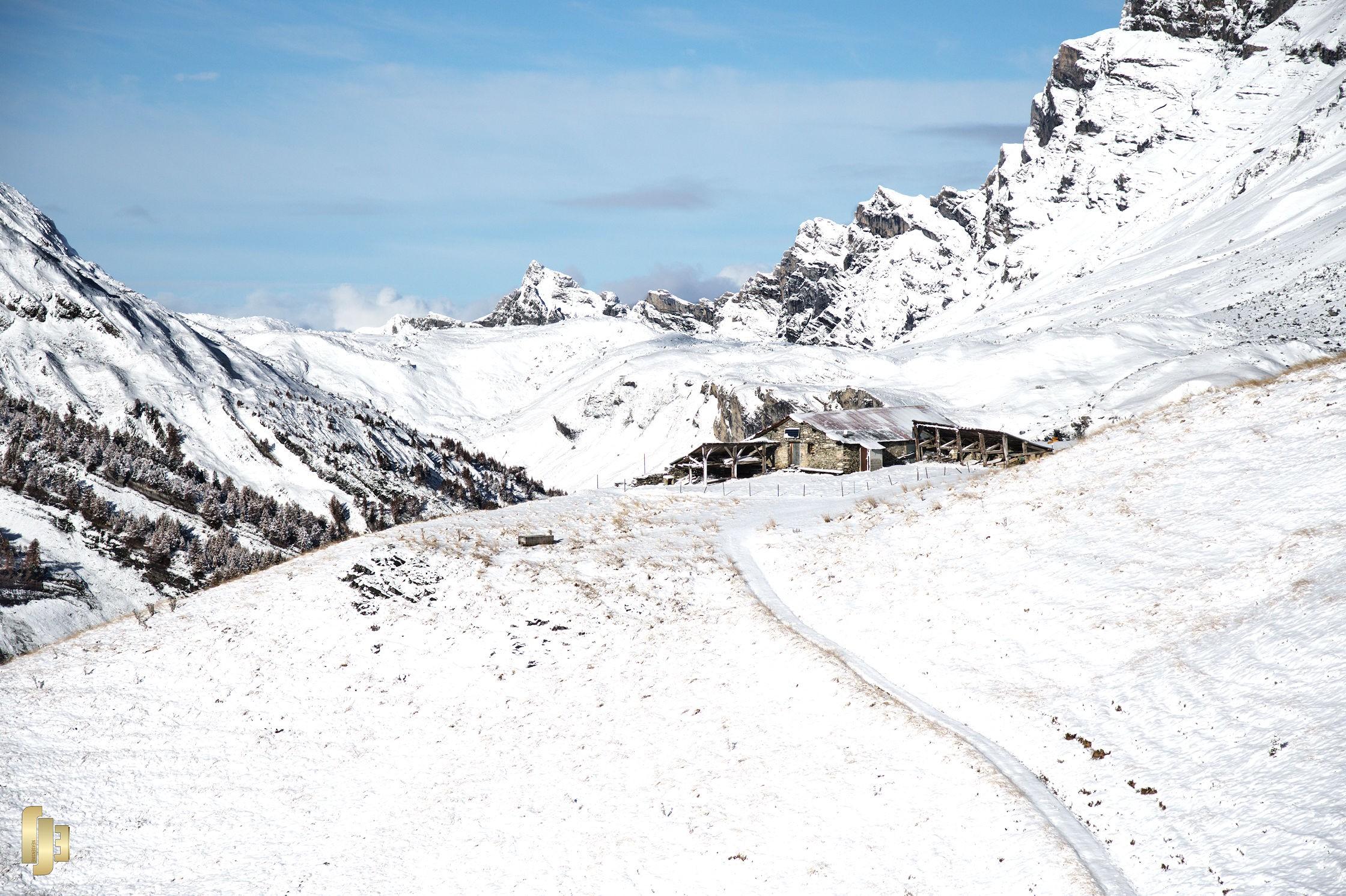 Première neige sur Lodze