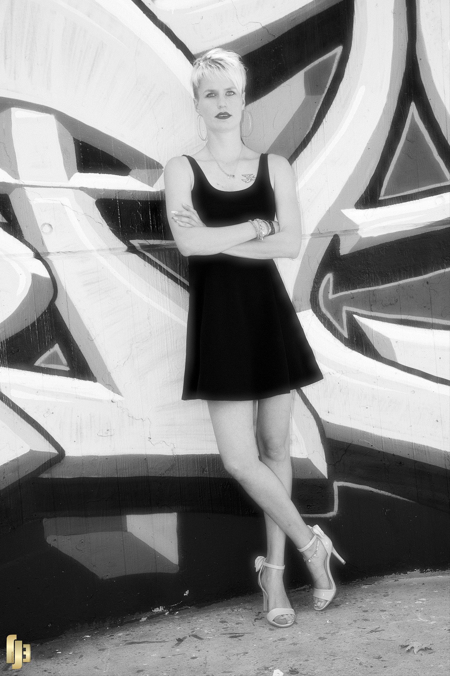Féminité en noir et blanc
